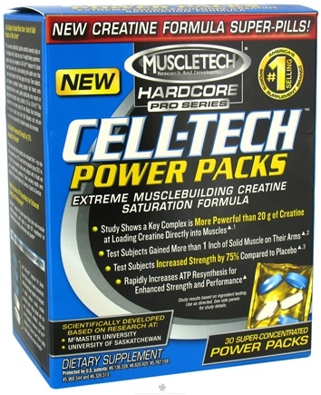 DROPPED: Muscletech Products - Hardcore Pro Series Cell-Tech Power Packs - 30 Pack(s) CLEARANCE PRICED