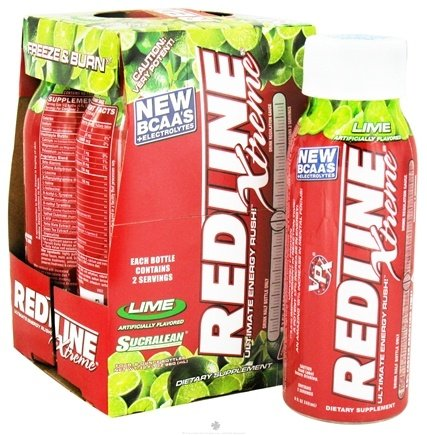 DROPPED: VPX - Redline Xtreme RTD Energy Drink 4 x 8oz. Lime - 4 Pack