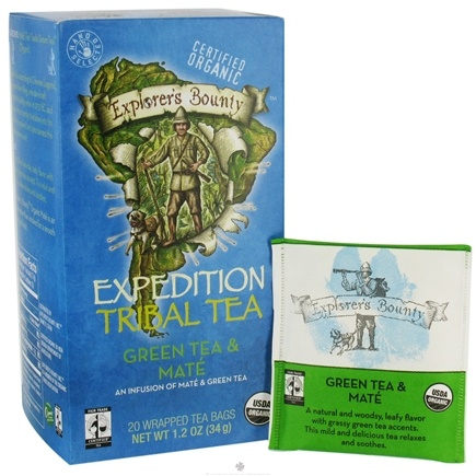 DROPPED: Explorer's Bounty - Organic Expedition Tribal Tea Green Tea & Mate - 20 Tea Bags