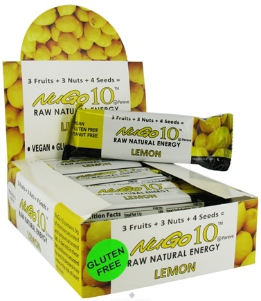 DROPPED: NuGo Nutrition - Gluten Free Nugo 10 Raw Natural Energy Bar Lemon - 1.76 oz.