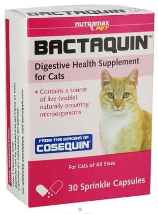 DROPPED: Nutramax Labs - Bactaquin Digestive Health Supplement for Cats - 30 Capsules