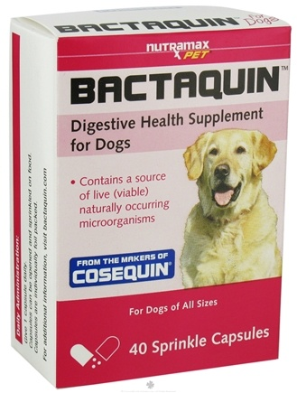 DROPPED: Nutramax Labs - Bactaquin Digestive Health Supplement for Dogs - 40 Capsules CLEARANCE PRICED