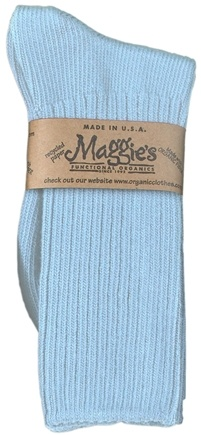 DROPPED: Maggie's Organics - Socks Cotton Crew Size 9-11 Denim Blue - 1 Pair CLEARANCE PRICED