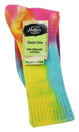 Maggie's Organics - Socks Crew Single Lite Tie Dye - 1 Pair