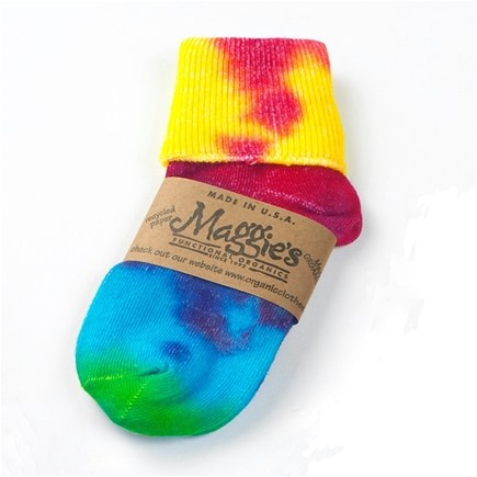 DROPPED: Maggie's Organics - Socks Crew Singles For Toddlers Tie Dye - 1 Pair CLEARANCE PRICED