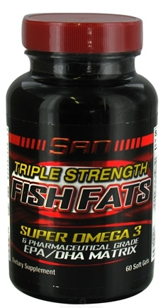 DROPPED: SAN Nutrition - Triple Strength Fish Fats - 60 Softgels CLEARANCE PRICED