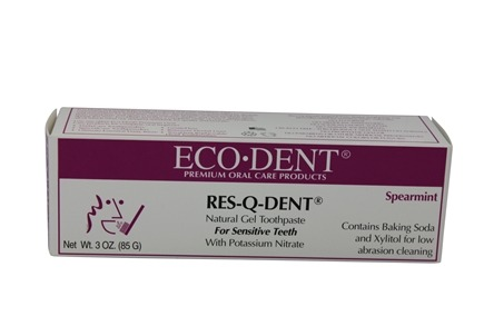 Eco-Dent - Res-Q-Dent Natural Gel Toothpaste with Potassium Nitrate For Sensitive Teeth Spearmint - 3 oz.