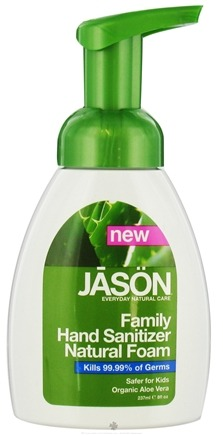 DROPPED: Jason Natural Products - Hand Sanitizer Natural Foam Family - 8 oz.