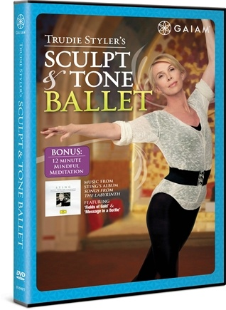 DROPPED: Gaiam - Trudie Styler's Sculpt & Tone Ballet DVD - CLEARANCE PRICED