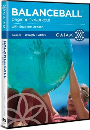 DROPPED: Gaiam - Beginner's Workout Balance Ball DVD - CLEARANCE PRICED