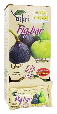 Oskri - Fig Fruit Bar Gluten-Free - 1.2 oz.