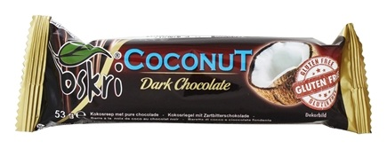 Oskri - Coconut Bar Dark Chocolate Gluten-Free - 1.9 oz.