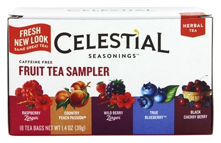 DROPPED: Celestial Seasonings - Herbal Fruit Tea Sampler Caffeine Free - 18 Tea Bags