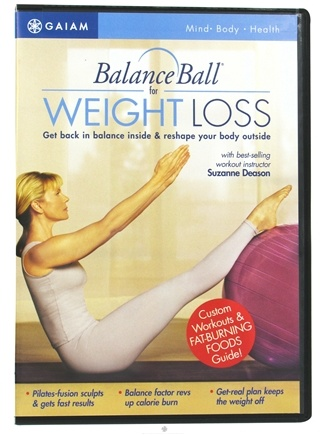 DROPPED: Gaiam - BalanceBall for Weight Loss DVD with Suzanne Deason - CLEARANCE PRICED