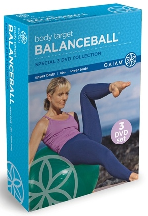 DROPPED: Gaiam - Body Target BalanceBall 3 DVD Collection - CLEARANCE PRICED