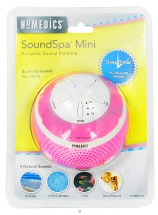 DROPPED: HoMedics - Sensory SoundSpa Mini Portable Sound Machine SS-MN101PK Pink - CLEARANCE PRICED