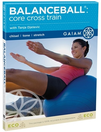 DROPPED: Gaiam - Balanceball Core Cross Train DVD with Tanja Djelevic - CLEARANCE PRICED