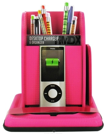 DROPPED: HoMedics - HMDX Audio Desktop Charger and Organizer For iPhone & iPod HMDX-VLTPK Pink - CLEARANCE PRICED