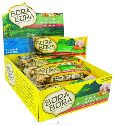 DROPPED: Bora Bora - All Natural Antioxidant Bar Paradise Walnut Pistachio - 1.4 oz. CLEARANCE PRICED