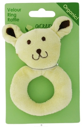 DROPPED: Green Sprouts - Organic Velour Ring Rattle Bunny 0 Plus Months - CLEARANCE PRICED
