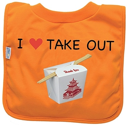 DROPPED: Green Sprouts - Favorite Food Absorbent Bib Stage 3 Takeout Orange