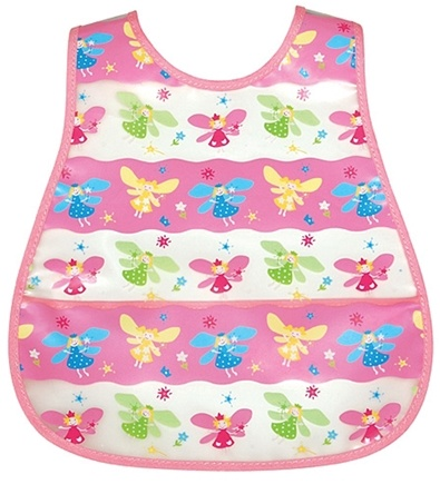 DROPPED: Green Sprouts - Waterproof Scenic Wipe Off Pocket Bib 12-24 Months Stage 4 Fairy
