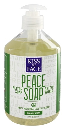 DROPPED: Kiss My Face - Peace Soap 100% Natural All Purpose Castile Soap Grassy Mint - 17 oz.