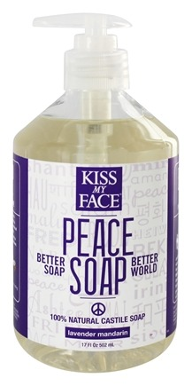 DROPPED: Kiss My Face - Peace Soap 100% Natural All Purpose Castile Soap Lavender Mandarin - 17 oz.