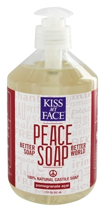 DROPPED: Kiss My Face - Peace Soap 100% Natural All Purpose Castile Soap Pomegranate Acai - 17 oz.