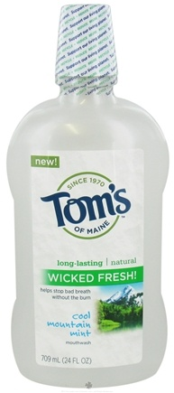 DROPPED: Tom's of Maine - Natural Mouthwash Wicked Fresh Cool Mountain Mint - 24 oz. CLEARANCE PRICED