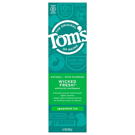Tom's of Maine - Natural Toothpaste Wicked Fresh With Fluoride Spearmint Ice - 4.7 oz. LUCKY PRICE