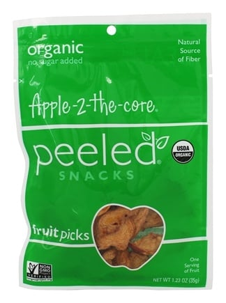 DROPPED: Peeled Snacks - Organic Fruit Picks Apple-2-the-core - 1.23 oz. CLEARANCE PRICED