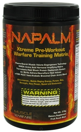 DROPPED: Muscle Warfare - Napalm Xtreme Pre-Workout Fruit Punch Blast - 316 Grams