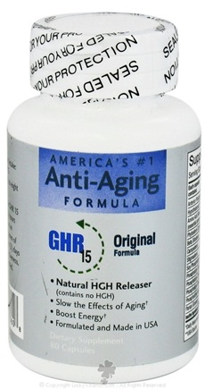 DROPPED: American Anti-Aging Society - GHR 15 Original Formula - 80 Capsules