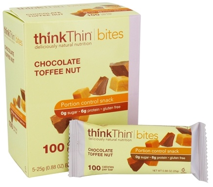 DROPPED: Think Products - thinkThin Bites Chocolate Toffee Nut - 5 Bars