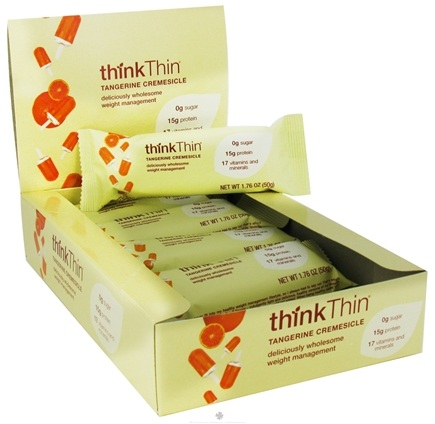 DROPPED: Think Products - thinkThin Dessert Bar Tangerine Creamsicle - 1.76 oz.