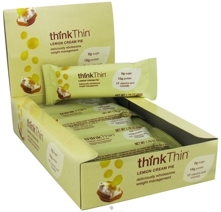 DROPPED: Think Products - thinkThin Dessert Bar Lemon Cream Pie - 1.76 oz. CLEARANCE PRICED
