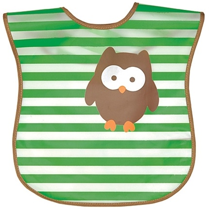 DROPPED: Green Sprouts - Wash 'N Wipe Bib 6-12 Months Stage 3 Owl Green