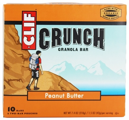 Clif Bar - Crunch Granola All Natural Peanut Butter - 10 Bars