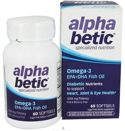 DROPPED: Enzymatic Therapy - Alpha Betic Diabetic Nutrition Omega-3 EPA+DHA Fish Oil - 60 Softgels Formerly by NatureWorks CLEARANCE PRICED