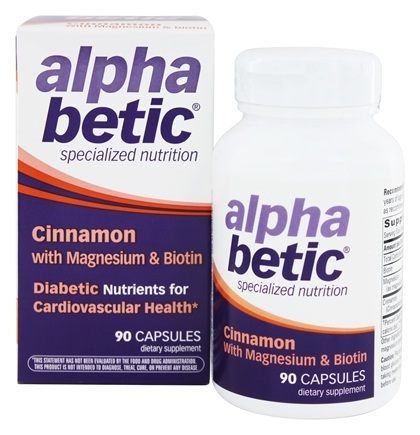 Enzymatic Therapy - Alpha Betic Specialized Nutrition Cinnamon Plus Magnesium & Biotin - 90 Capsules Formerly by NatureWorks