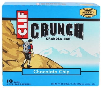 Clif Bar - Crunch Granola All Natural Chocolate Chip - 10 Bars