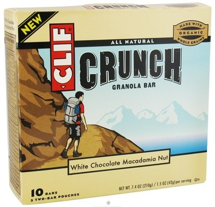 DROPPED: Clif Bar - Crunch Granola All Natural White Chocolate Macadamia Nut - 10 Bars