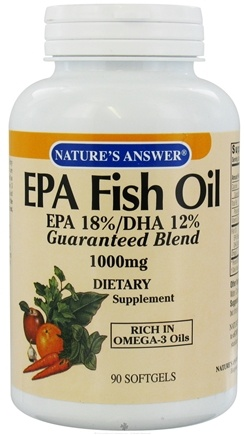 DROPPED: Nature's Answer - EPA Fish Oil 1000 mg. - 90 Softgels CLEARANCE PRICED