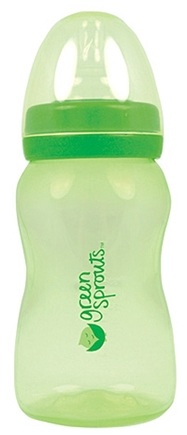 DROPPED: Green Sprouts - Feeding Bottle BPA Free 0-24 Months Stage 1-4 Green - 8 oz.