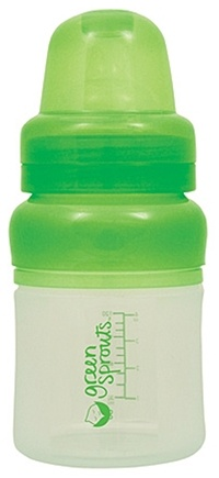 DROPPED: Green Sprouts - Feeding Bottle Silicone BPA Free 0-3 Months Stage 1 - 4 oz.
