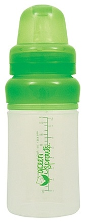 DROPPED: Green Sprouts - Feeding Bottle Silicone BPA Free 0-24 Months Stage 1-4 - 8 oz.