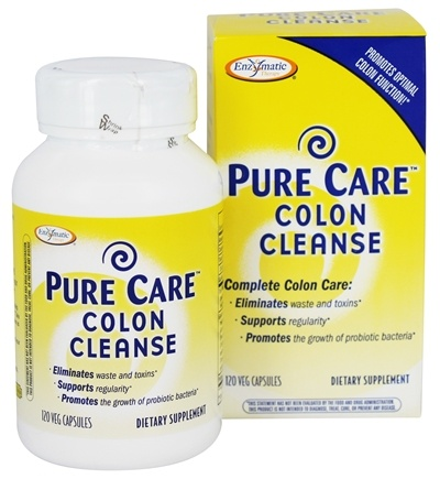 Enzymatic Therapy - Pure Care Colon Cleanse - 120 Vegetarian Capsules