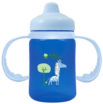 DROPPED: Green Sprouts - Sippy Cup Non-Spill BPA Free 3-24 Months Stage 2-4 Cornflower Blue - 6 oz. CLEARANCE PRICED
