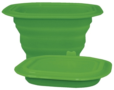 DROPPED: Green Sprouts - Collapsible Silicone Storage Bowl 3-12 Months Stage 2-3 Green - CLEARANCE PRICED